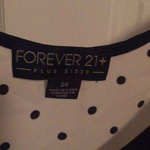 Forever 21 Tops - Forever 21 polka dot, button up dress tank 2X